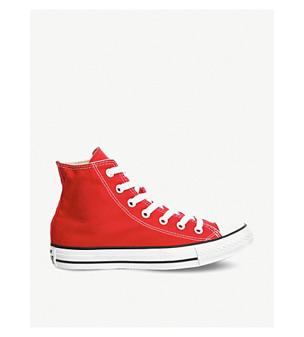 CONVERSE All Star red-canvas high-tops (Red+canvas