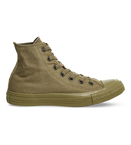 CONVERSE Converse high-top canvas trainers (Military+olive+mono