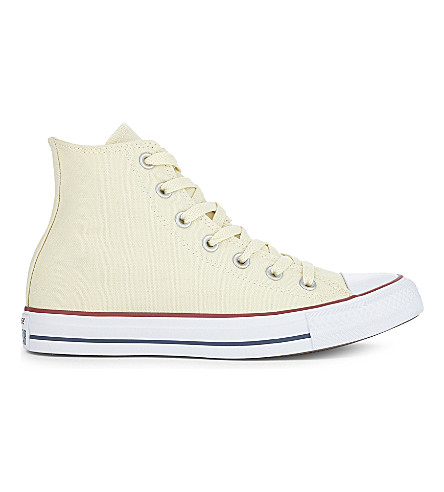 CONVERSE All Star canvas high-tops (Ecru