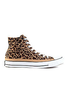 CONVERSE All Star leopard-print high-tops