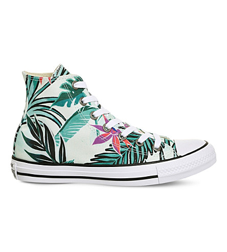 CONVERSE All Star canvas high-top trainers (Fibreglass+floral
