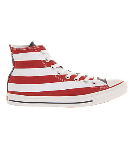 CONVERSE Chuck Taylor All Star high top trainers (Stars+bars