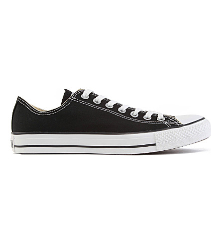 CONVERSE All Star low-top canvas trainers (Black+canvas