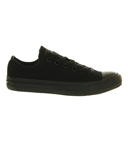 CONVERSE All Star low-top canvas trainers (Black+mono+exclusive