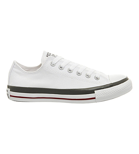 CONVERSE All Star low-top canvas trainers (White+grey+rand