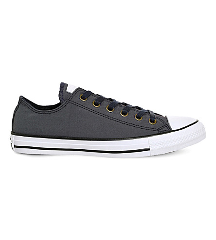 CONVERSE All Star canvas low-top trainers (Obsidian+white