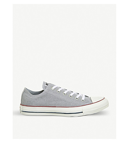 CONVERSE All Star canvas low-top trainers (Wolf+grey+white