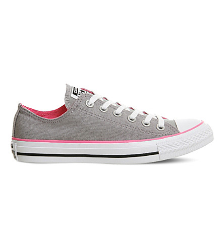 CONVERSE All Star low-top canvas trainers (Grey+pink