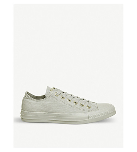 CONVERSE All Star canvas low-top trainers (Pale+grey+mono