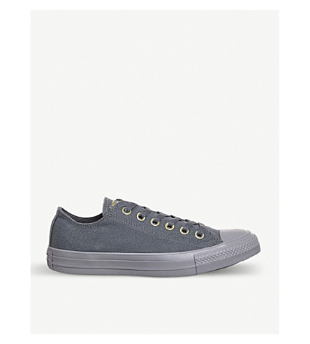 CONVERSE All Star canvas low-top trainers (Light+carbon+mono