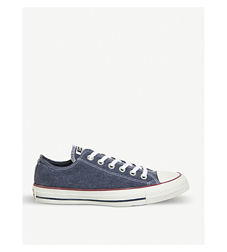 CONVERSE All Star denim low-top trainers (Navy+navy+white
