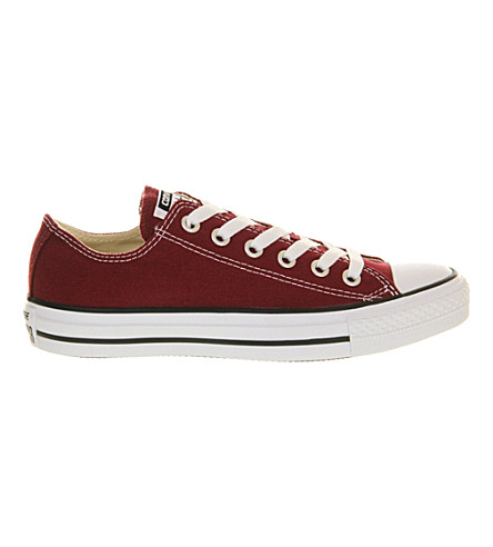 CONVERSE All Star low-top canvas trainers (Maroon+canvas