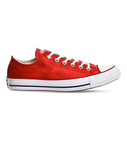 CONVERSE All-Star low-top canvas trainers (Casino red sheenwash