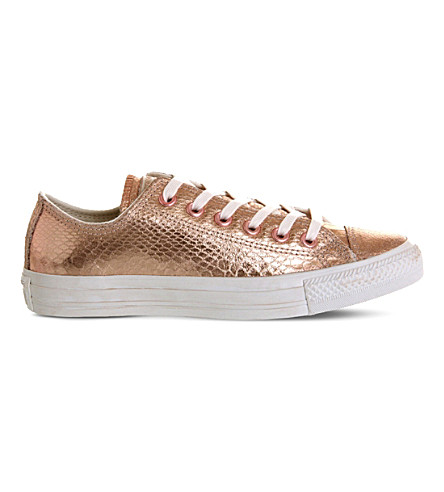 CONVERSE Snake-effect metallic trainers