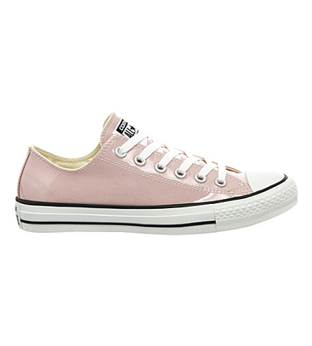 CONVERSE All star low-top metallic trainers (Rose pastel patent