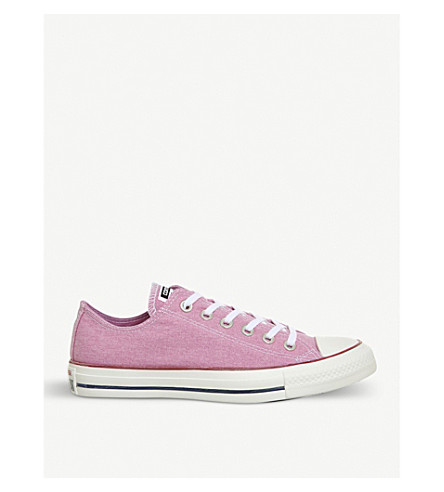CONVERSE All Star canvas low-top trainers (Light+orchid