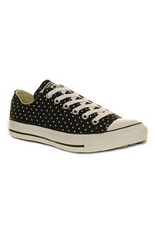 CONVERSE All Star low polka-dot trainers