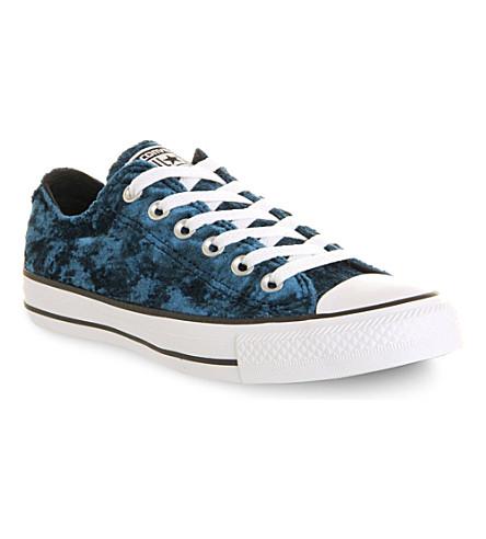CONVERSE All Star velvet low trainers (Blue velvet