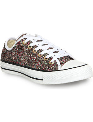 CONVERSE All star low-top sequin trainers