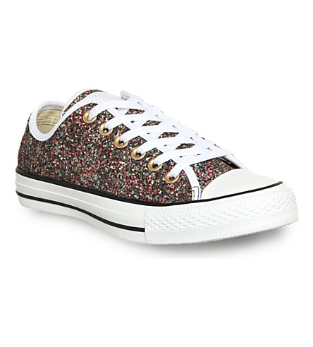 CONVERSE All star low-top sequin trainers (Gold glitter