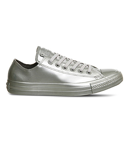CONVERSE Chuck Taylor All-Star low-top water-repellent sneakers (Silver mono rubber