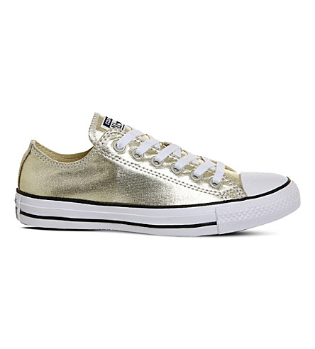 CONVERSE Chuck Taylor All-Star metallic sneakers (Light+gold+metallic