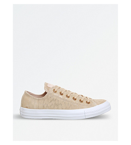 CONVERSE All Star suede low-top trainers (Dusk+pink+shimmer