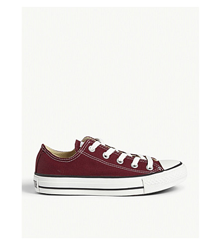 CONVERSE All Star low-top trainers (Maroon+canvas