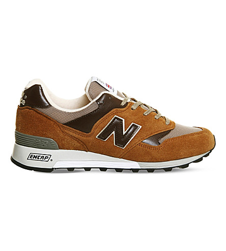 NEW BALANCE M577 suede trainers (Rust brown miuk og