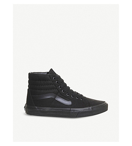 VANS Sk8 hi tonal canvas trainers (Black+mono