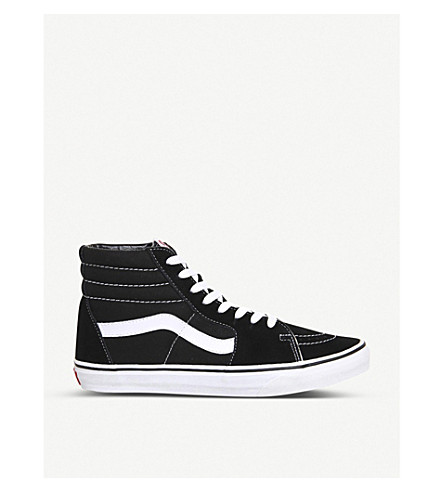 VANS Sk8 high-top trainers (Black+white+canvas