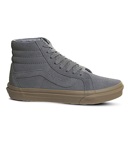 VANS Sk8 Hi suede high-top trainers (Grey+suede+gum