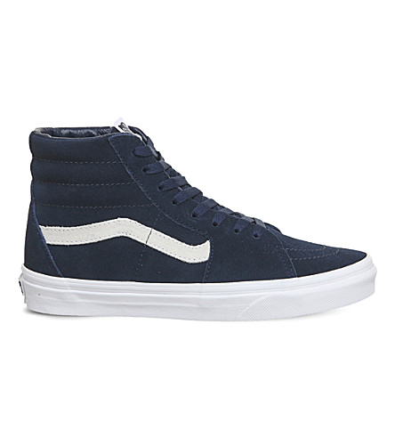 VANS Sk8 hi leather trainers (Dress+blue+white