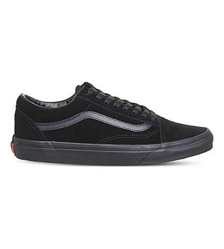 VANS Old Skool low-top suede trainers (Black+mono+suede