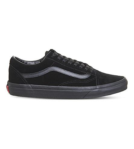 VANS Old Skool low-top suede trainers (Black+mono+suede