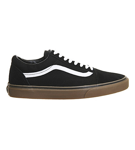 VANS Old Skool suede and canvas trainers (Black gum sole