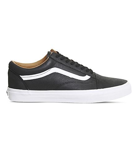 VANS Old Skool low-top leather trainers (Black+true+white+prm