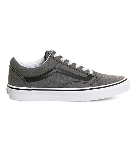 VANS Old Skool low-top chambray trainers (Chambray+black