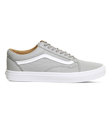 VANS Old Skool leather sneakers (Wild+dove+white+prm