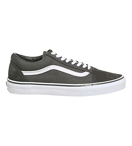VANS Old Skool canvas and suede trainers (Tornado+white