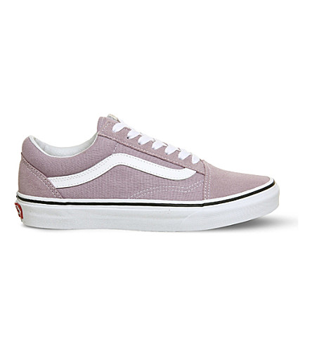 VANS Old Skool suede and canvas trainers (Sea+fog+white