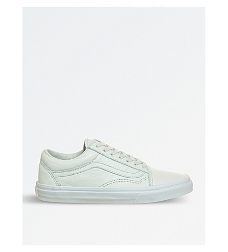 VANS Old skool leather trainers (Ice+flow+mono