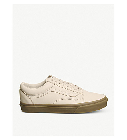 VANS Skool trainers VANS leather Old Moonlight Old gum tan Fw6Ba5xHq