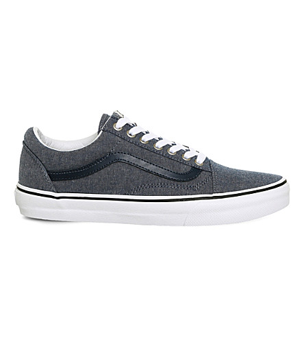 VANS Old Skool canvas and suede trainers (Chambray+blue