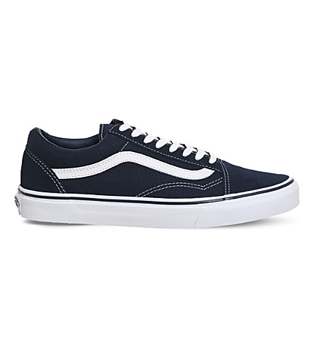 VANS Old Skool canvas and suede trainers (Dress+blue+white