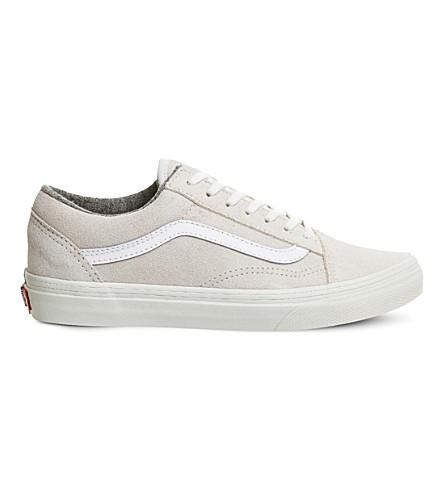 VANS Old Skool suede and canvas sneakers (Varsity suede white