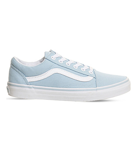 VANS Old Skool canvas and suede trainers (Crystal blue white