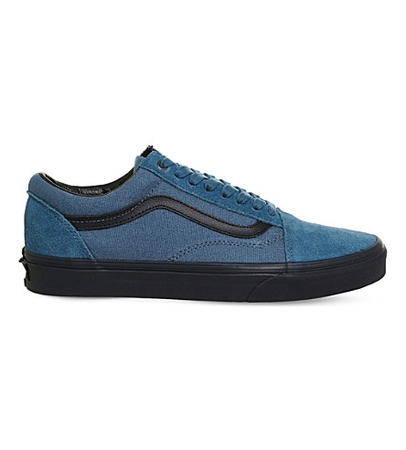 VANS Old Skool canvas and suede trainers (Blue parisian night