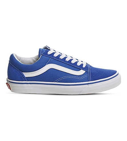 VANS Old Skool suede and canvas trainers (Imperial+blue+white
