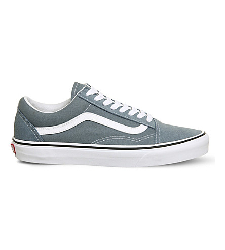 VANS Old Skool suede and canvas trainers (Goblin+blue+white